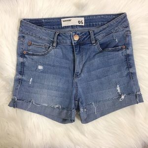Garage Light Wash Denim Shorts